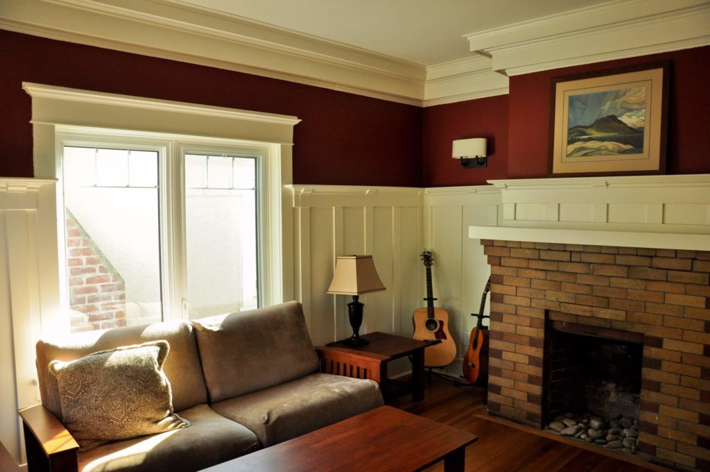 Drawing Room Colored By Burgundy Dunbar Painting